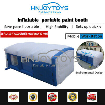 Mobile Portable Inflatable Car Paint Spray Booth Tent Cabin USA Popular Style