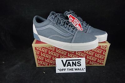 Vans Old Skool Shoes Black DX Blocked Slate Skateboard Skate Shoe Authentic