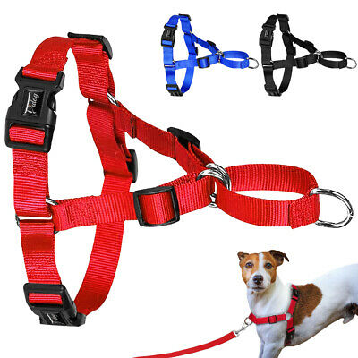 No Pull Dog Harness Nylon No Choke Adjustable for Training Dogs Front Fastening