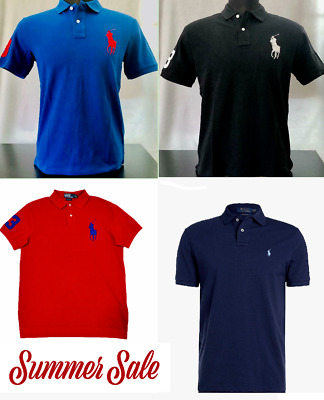 Polo Ralph Lauren  Custom Slim Fit Mesh Polo Shirt (S,M,L,XL,XXL)