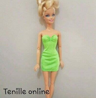 New Barbie doll clothes fashion outfit dress good quality lime green AU seller