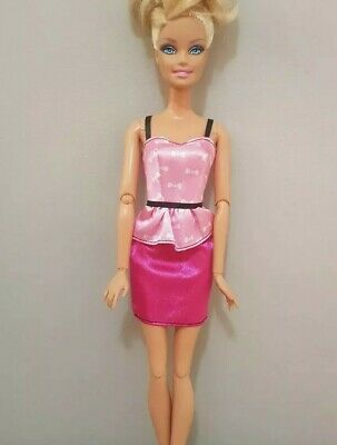 New Barbie doll clothes fashion outfit dress good quality bows pink AU seller