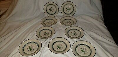 Syracuse China Old Ivory Coralbel 9 saucers and two 6 inch. plates