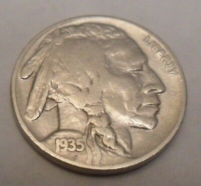 "1935 S Indian Head ""buffalo"" Nickel  *good Or Better*  **free Shipping**"