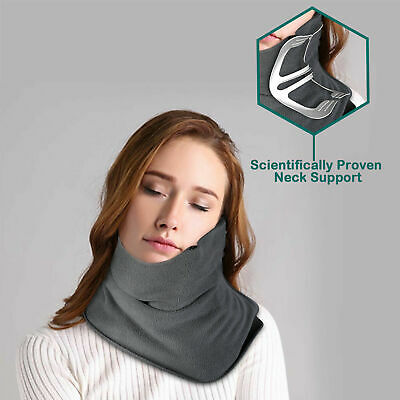 Travel Pillow Scarf Neck Support Flight Sleep Headrest Soft Nap Scarf Portable