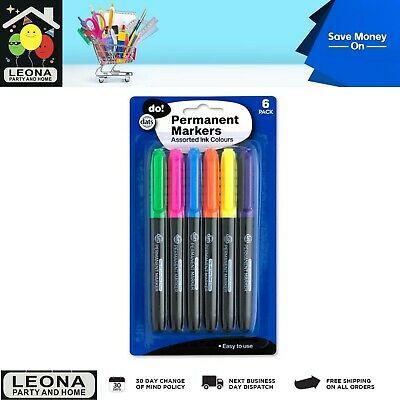 6 PCS Whiteboard Colouring Colour Markers School Office Business Stationery AU