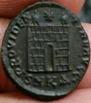 Constantine I The Great 306-337 Ad, Roman Imperial. Camp Gate.