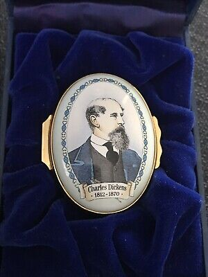 Charles Dickens Halcyon Days Literary Collection Enamels Rare Collectible Item