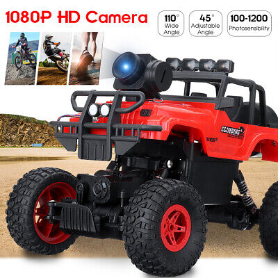 RC Car 4WD Off-Road Climbing Remote Control Car Truck Toy +1080P Camera Tracked