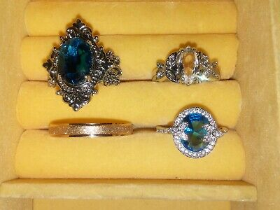 Junk Drawer Lot of 4 Vintage To Now Costume Jewelry Rings
