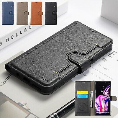 For Samsung Galaxy S10 Plus S10e Flip Leather Card Holder Stand Phone Case Cover