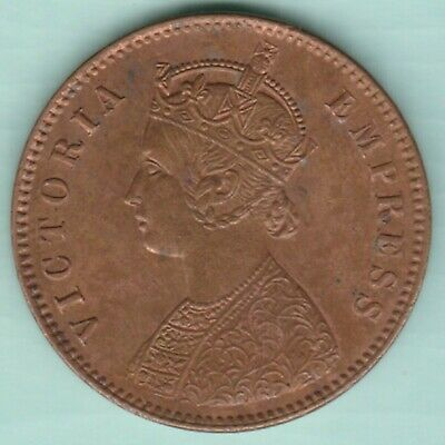 British India 1894 Victoria Empress One Quarter Anna Extremely Rare Coin