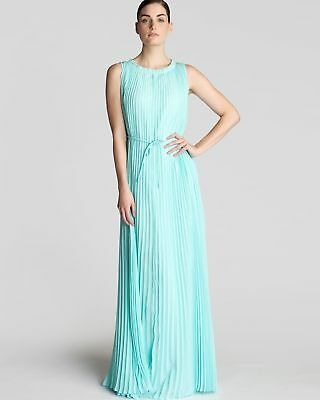 b5023189c5ae BNWOUT Ted Baker Hayleen Pleated Maxi Dress in blue mint - size 1   UK8