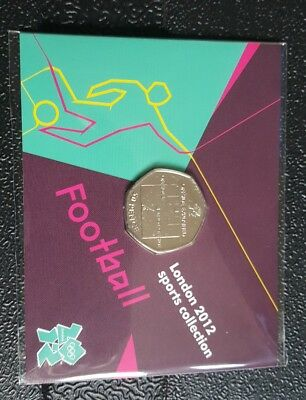 london olympic 50p coin football offside rule