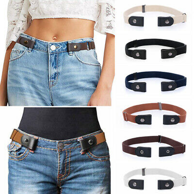 Canvas Adjustable Buckle-Free Elastic Invisible Belt for Jeans No Bulge Hassle