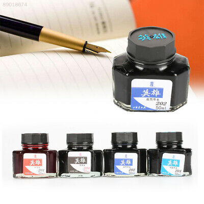 Fountain Pen ink 50 ml Glass Bottled Black Blue Red Ink Refill Office Supplies