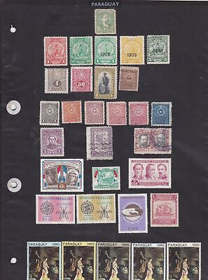 paraguay stamps ref 12027