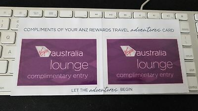 2x Virgin Lounge Passes / Pass - Exp 31 December 2019 - Free Delivery