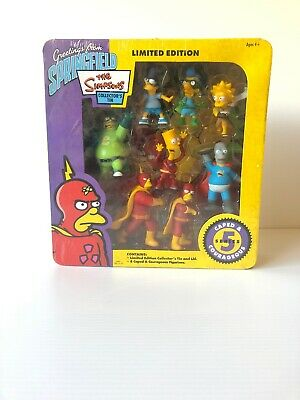 The Simpsons Collectors Set Series 5 Caped And Courageous Limited Edition