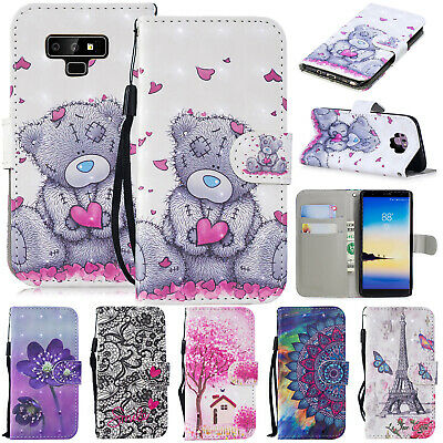 For Samsung Galaxy S10+ S10e Cute Magnetic Wallet Leather Card Holder Case Cover