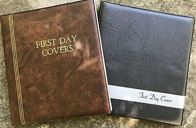 FIRST DAY COVER ALBUMS x 2 EACH WITH 13 SLEAVES.        Phi