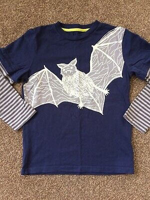 Boys Mini Boden Long Sleeved T-shirt/top Aged 7-8 Years 🦇 Bat 🦇