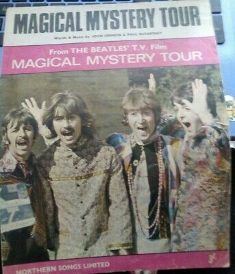 this is the pic of the bunch MAGICAL MYSTERY TOUR BY BEATLES sheet of music