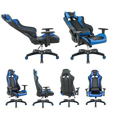 PU Leather Gaming Racing Chair Office Executive Recliner Adjustable