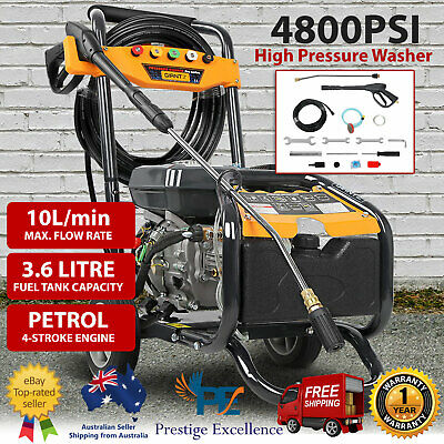 4800 PSI High Pressure Washer Water Gurney Cleaner Petrol 8HP Pro-Series Engine