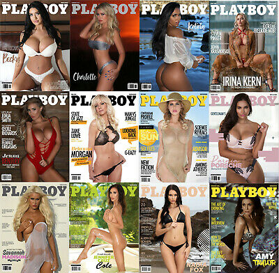 Playboy South Africa 2018 Complete Full Year Lot of 12 Issues - Read Description