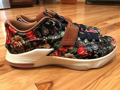 finest selection 6d6d5 c504b Nike Kd Vii Ext Floral Qs Midnight Navy black-Hazelnut 726438-400 Size