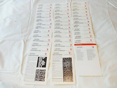Learn To Crochet Silver Needles 1970's Set Of crochet Technique Cards 40 Cards