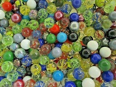 """GLASS MOODY MARBLE PACK /""""COOL /& FLIRT/"""" TWO 1/"""" SHOOTERS BY MEGA MARBLES"""