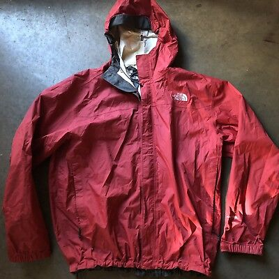 51a348c13 MEN'S THE NORTH Face Hyvent 2.5L Red Gray Hooded Windbreaker Zip Up Jacket  Sz XL