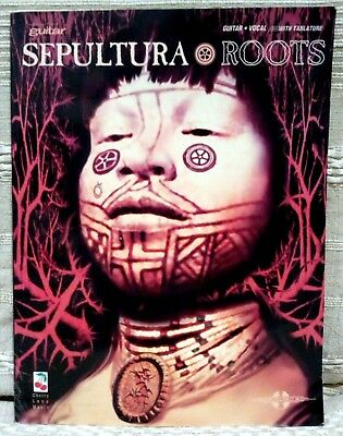 """SEPULTURA """"ROOTS"""" GUITAR VOCAL SONGBOOK with TABLATURE Cherry Lane Music"""