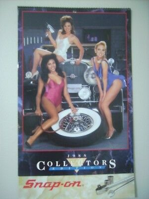 Vintage 1988 Snap On Tools Collector's Edition Wall Calendar