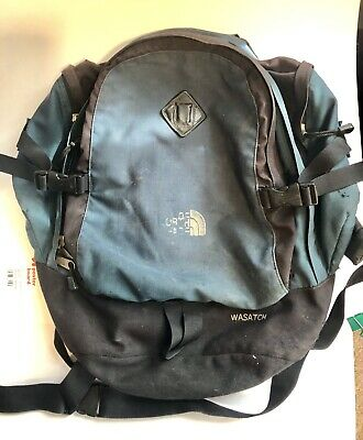 9a412caa8 NORTH FACE WASATCH BACKPACK BLACK & GRAY Laptop - $19.99 | PicClick