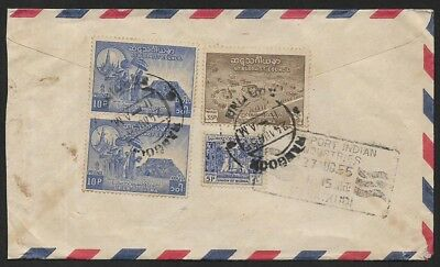 (111cents) Burma 1955 6th Buddhist Counsil Cover Rangoon to India