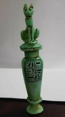 Rare Ancient Egyptian Antiques Makhala Veesel Heiroglyphics Egypt handmaid BC