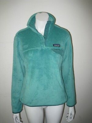 b52f36bf409 Patagonia Women s Re-Tool Snap-T Fleece Pullover Aqua Stone Size SMALL