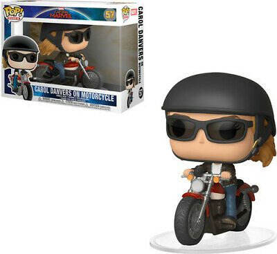 Captain Marvel - Carol Danvers On Motorcycle - Funko Pop! Ride (2019, Toy NUEVO)