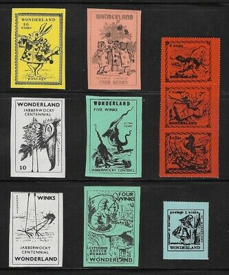 Wonderland Commemorative Stamps - Gerald King Cinderellas - Perforate Alice In.