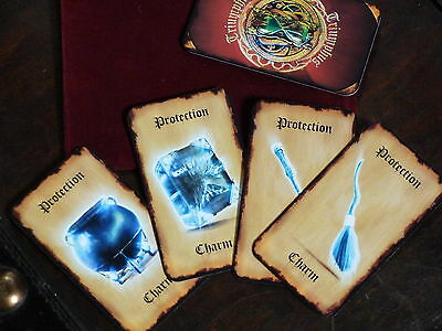 Wand Broom Cauldron Book of Spells. Triumphus! Witch Wizard Wicca Playing Cards.
