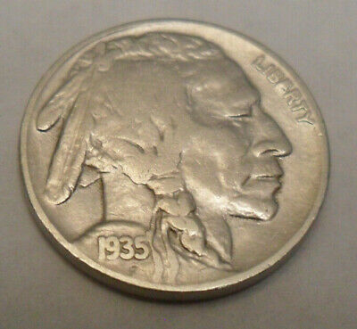 "1935 P Indian Head ""buffalo"" Nickel  Sds  **free Shipping**"