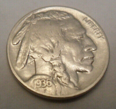 "1936 P Indian Head ""buffalo"" Nickel  Sds  **free Shipping**"