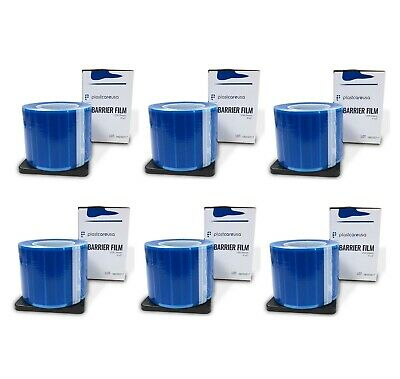 """6 x Blue Barrier Film, Sheeting Tape, Adhesive Lab 1200 4"""" x 6"""" Sheets"""