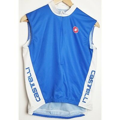 7141e28a5 Castelli mens small blue and white polyester sleeveless cycling jersey