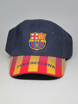 3422c47f265 Official FCB FC Barcelona Embroidered 1899 Cap Baseball Hat Striped New  Tags NOS