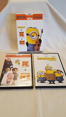 Despicable Me DVD 3 Movie Collection, Despicable Me 1 + 2  & The Minions Shorts
