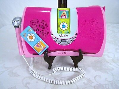Barbie Model BE-166 Hits 2 Go Karaoke Boombox with Manual